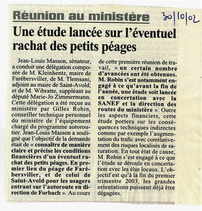 2 - Rachat des petits péages 30102002 (!)