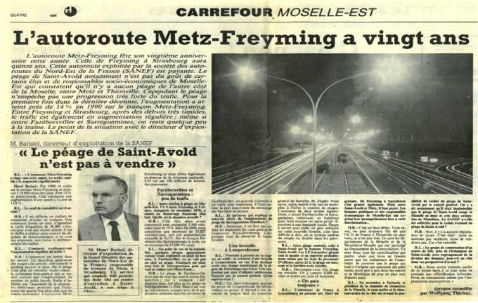4 - Autoroute Metz Freyming 20 ans pas à vendre